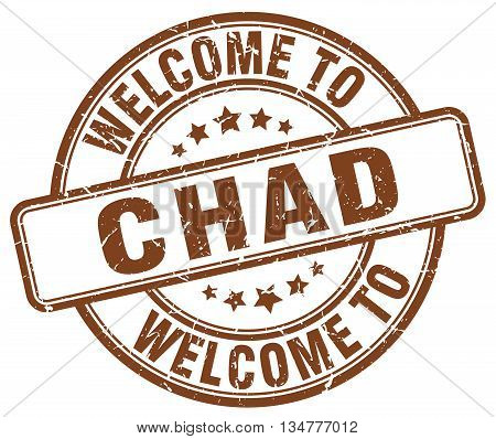 welcome to Chad stamp. welcome to Chad. vector