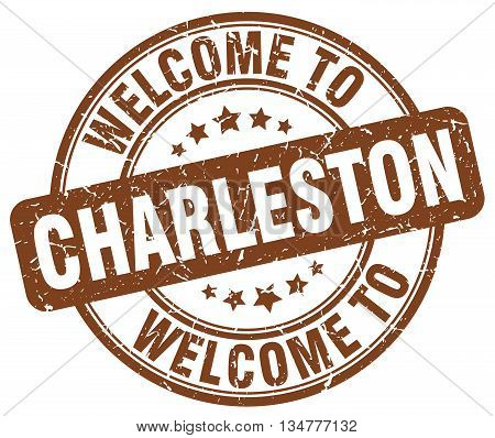 welcome to Charleston stamp. welcome to Charleston. vector