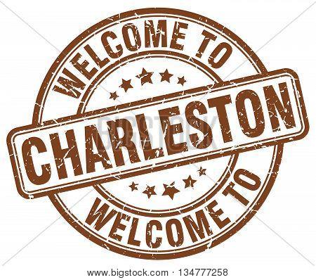 welcome to Charleston stamp. welcome to Charleston.