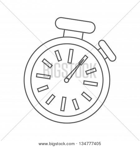 time concept represented by chronometer pointed on one  illustration, flat and isolated design