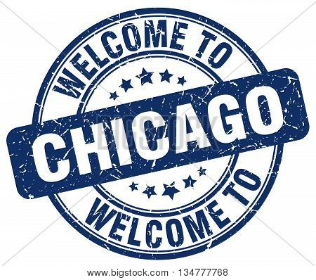 welcome to Chicago stamp. welcome to Chicago.
