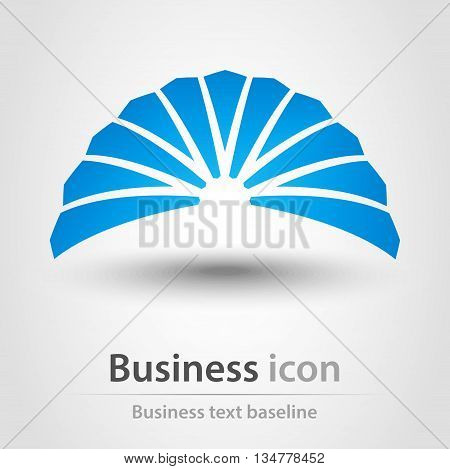 Originally created abstract shape blue business icon