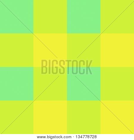 Seamless gingham pattern background - lime green