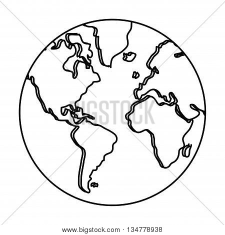 earth isolated over white isolated over white