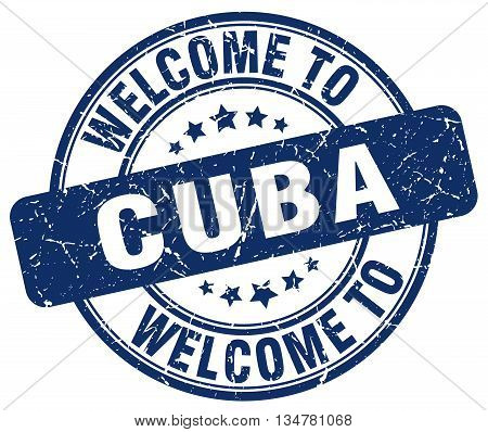 welcome to Cuba stamp. welcome to Cuba.