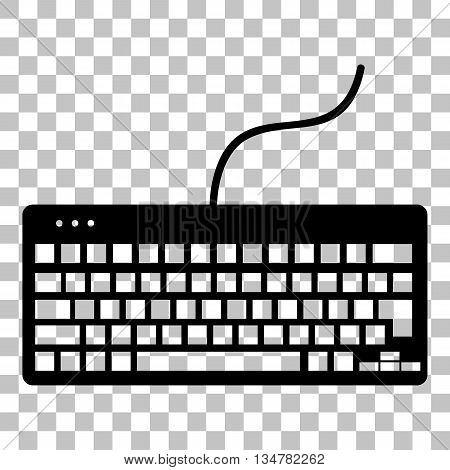 Keyboard simple sign. Flat style black icon on transparent background.