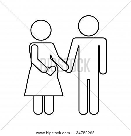 Pictogram of Family design about couple  illustration, flat and isolted design