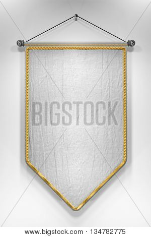 3D illustration of mock up pennant with highly detailed texture.