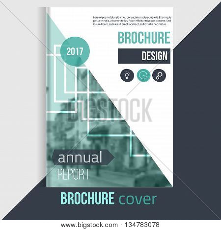 Professional Vector brochure cover templates with blured city landscape and lines