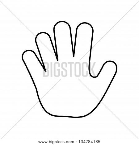 Hand silhouette design. fingers illustration, flat and isolted design