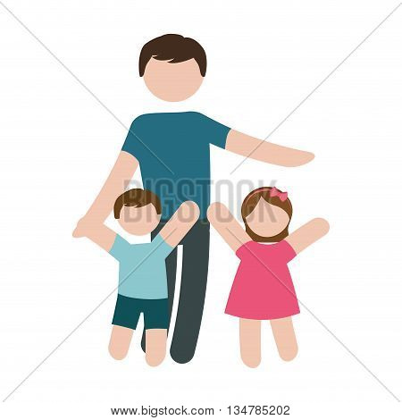 Avatar of Family design about father, son and daughter  illustration, flat and isolted design
