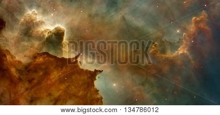 Beautiful nebula in cosmos far away. Elements of this image furnished by NASA