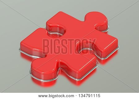 Jigsaw puzzle 3D rendering isolated on white background
