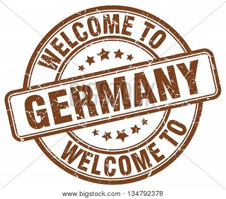 welcome to Germany stamp. welcome to Germany.