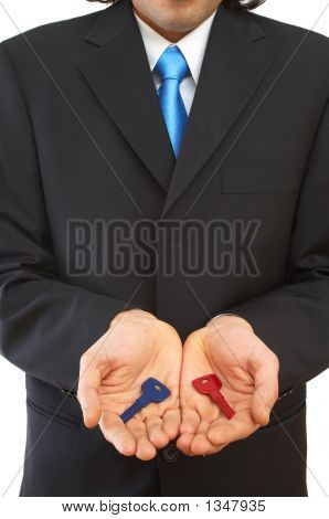 Businessman With Keys