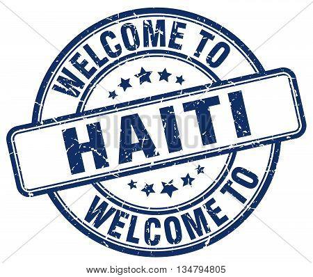 welcome to Haiti stamp. welcome to Haiti.