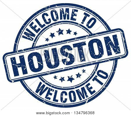 welcome to Houston stamp. welcome to Houston.