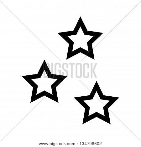 Sky representated by star shape of five points design over isolated and flat illustration
