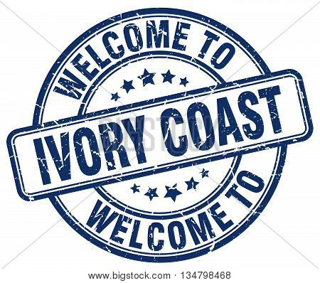 welcome to Ivory Coast stamp. welcome to Ivory Coast.