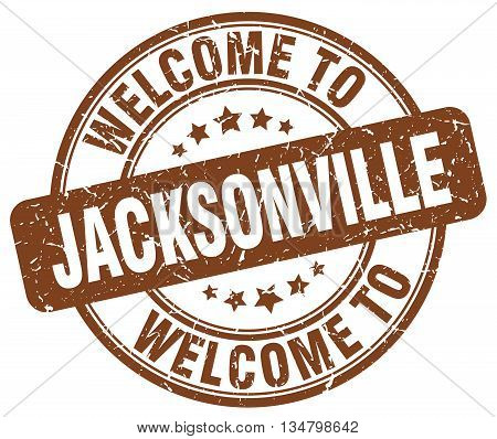 welcome to Jacksonville stamp. welcome to Jacksonville.