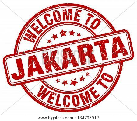welcome to Jakarta stamp. welcome to Jakarta.