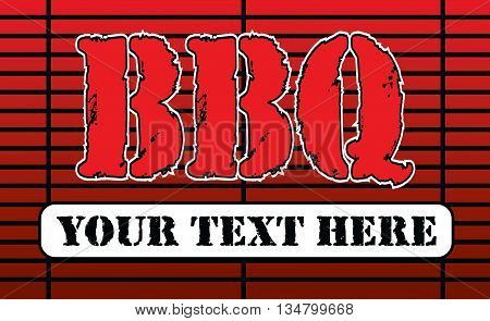BBQ Grill Design is an illustration of a barbeque or barbecue grill with BBQ text and a banner area that you can fill with your own information. Great template for things such as invites or flyers.