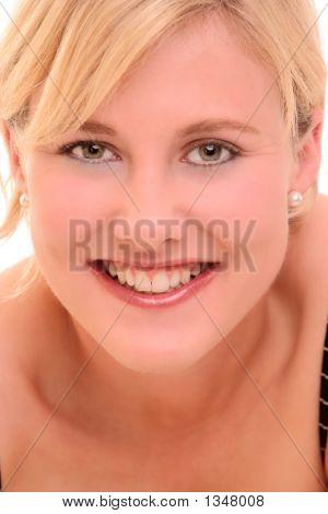 Portrait Of A Blond Woman Smiling