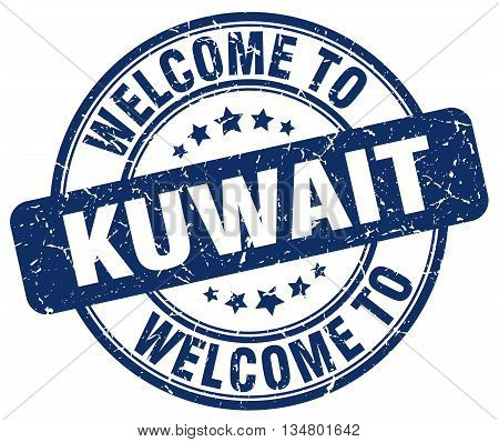 welcome to Kuwait stamp. welcome to Kuwait.