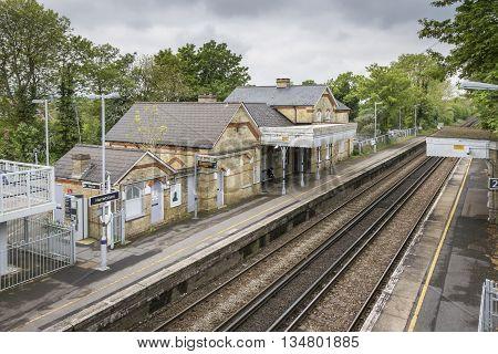 HARRIETSHAM, KENT, UK, 19 MAY 2016 - Train station in the village of Harrietsham Kent UK