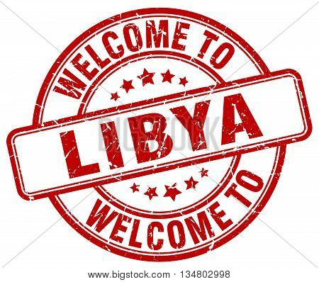 welcome to Libya stamp. welcome to Libya.