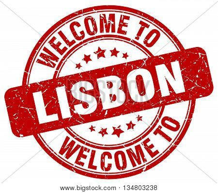 welcome to Lisbon stamp. welcome to Lisbon.