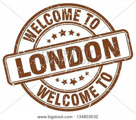welcome to London stamp. welcome to London.