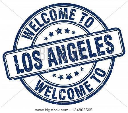 welcome to Los Angeles stamp. welcome to Los Angeles.