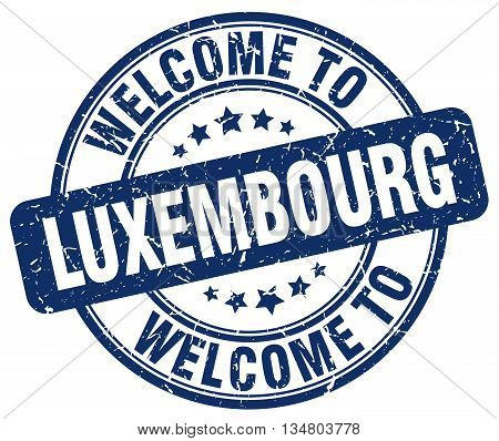 welcome to Luxembourg stamp. welcome to Luxembourg.