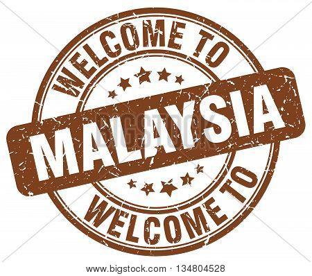 welcome to Malaysia stamp. welcome to Malaysia.