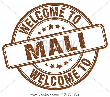 welcome to Mali stamp. welcome to Mali.