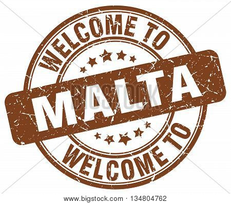 welcome to Malta stamp. welcome to Malta.
