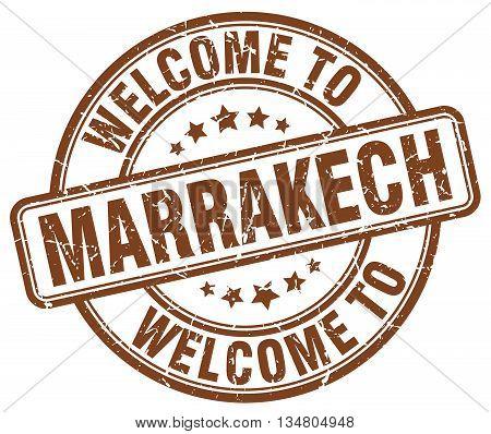 welcome to Marrakech stamp. welcome to Marrakech.