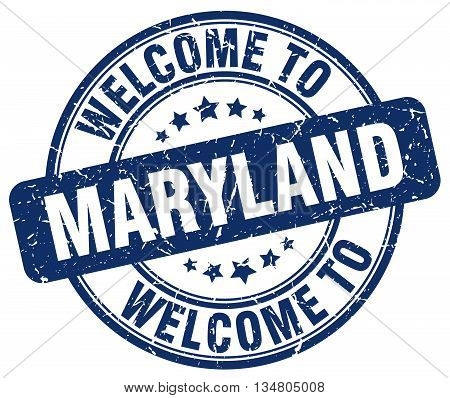 welcome to Maryland stamp. welcome to Maryland.