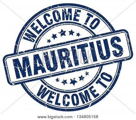 welcome to Mauritius stamp. welcome to Mauritius.