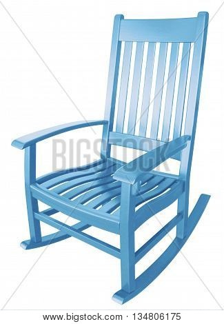 Baby blue rocking chair waiting for parents to rock to sleep