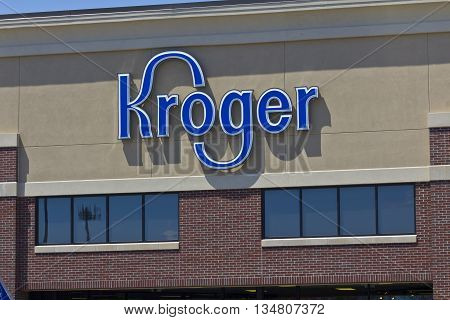 Indianapolis - Circa June 2016: A Kroger Supermarket. The Kroger Co. is One of the World's Largest Grocery Retailers