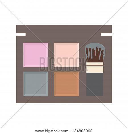 Make up and Cosmetic represented by powder icon over flat and isolated design