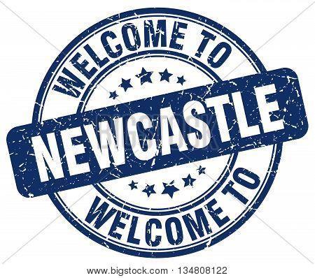 welcome to Newcastle stamp. welcome to Newcastle.
