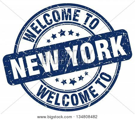 welcome to New York stamp. welcome to New York.