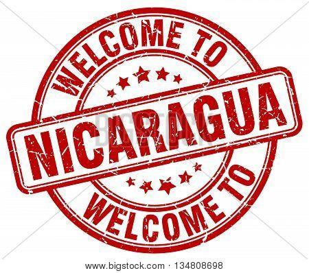 welcome to Nicaragua stamp. welcome to Nicaragua.