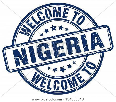 welcome to Nigeria stamp. welcome to Nigeria.