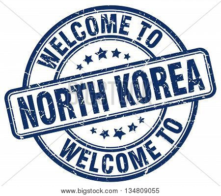 welcome to North Korea stamp. welcome to North Korea.