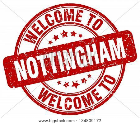 welcome to Nottingham stamp. welcome to Nottingham.