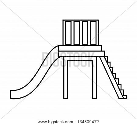 Green area concept represented by slide for playground icon over flat and isolated design